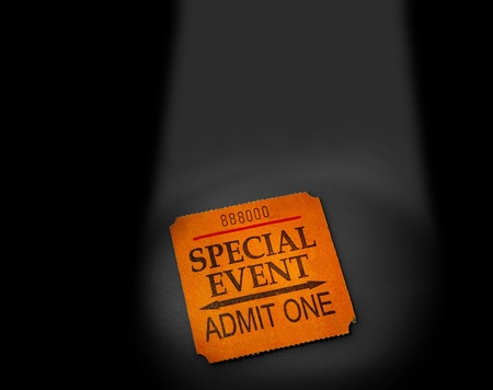 event ticket stub in spotlight photo