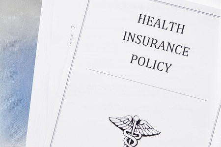 health insurance policy from above Stock Photo - 9051826