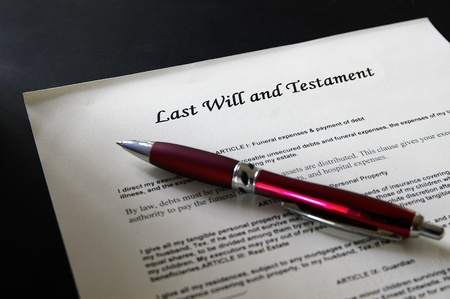 Last Will  legal document and pen Stock Photo
