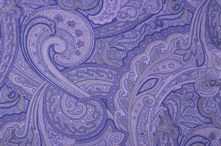 disegno cachemire: Un 70s stile blu paisley pattern Archivio Fotografico