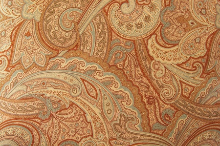 decoration: A brown paisley 70s style design pattern Stock Photo