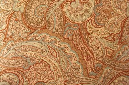 Brązowy wzór w stylu paisley z lat 70.