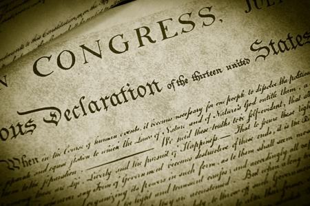 independencia: R�plica de la declaraci�n de independencia de Estados Unidos, detalle