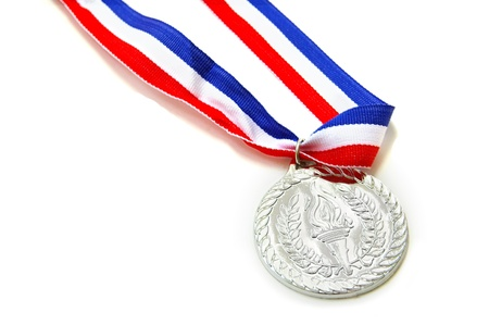 silver medal: silver medal isolated on white
