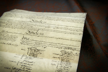 replica: Replica of the United States Constitution