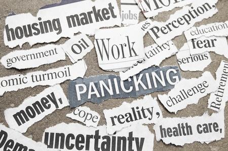 Negative newspaper economic headlines Stock Photo - 10709513