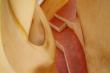 El famoso edificio Pradera, dise�ado por Gaud�, en Barcelona, ??Espa�a Foto de archivo - 11011879