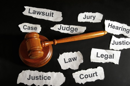 legal court: judge Stock Photo