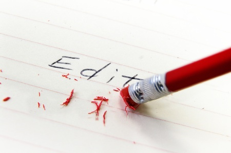 Gros plan sur une gomme à crayon corriger une erreur