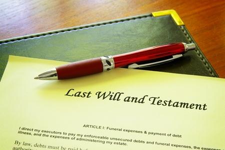 inheritance: Last Will and testament document