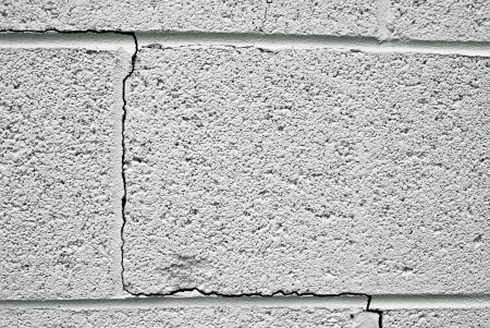 crack in a concrete building foundation