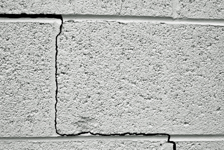 crack in a concrete building foundation Stock Photo - 14034045