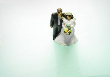 topper: bride and groom cake topper couple