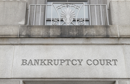 courts: Exterior of a Bankruptcy Court building
