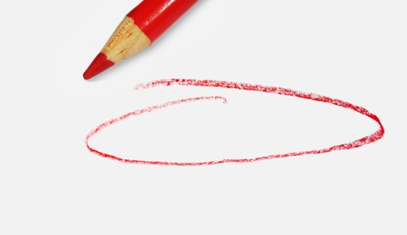 red pencil and blank circle for text
