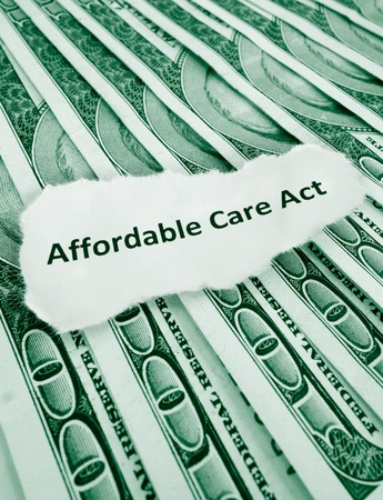 Closeup of Affordable Care Act    photo