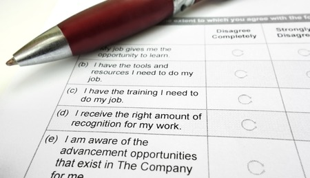 company employee: Company employee opinion survey and pen