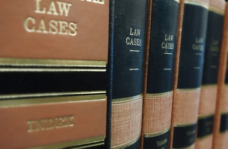 Law books  Law Cases  on a shelf                                photo