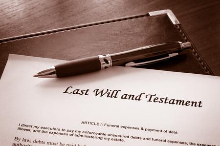 Última voluntad y testamento de documento