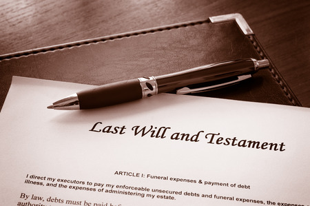 law: Last Will and testament document