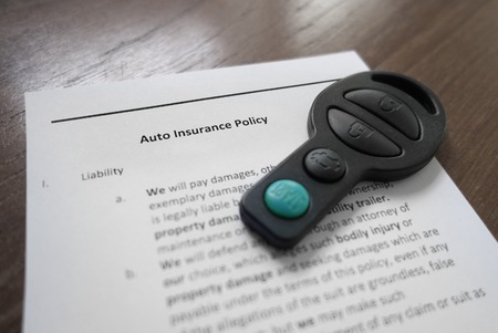 key fob: Auto insurance policy and key fob