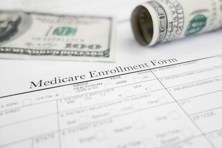 medicare: Medicare enrollment form and money