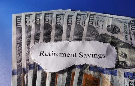 retirement nest egg: Retirement Savings note on assorted money