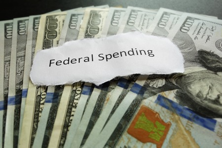federal: Federal Spending paper text on assorted cash