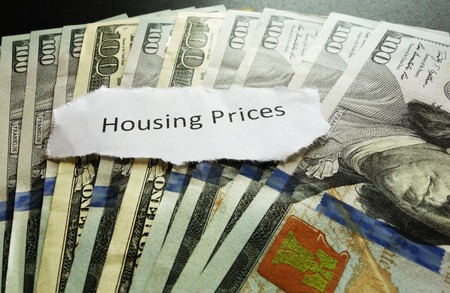 housing prices: Housing Prices newspaper headline on money