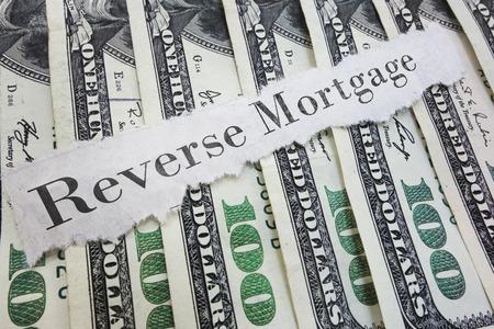 Omgekeerde hypotheek papier bericht op diverse contant geld