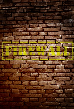 Brick wall with Firewall text - cyber security concept