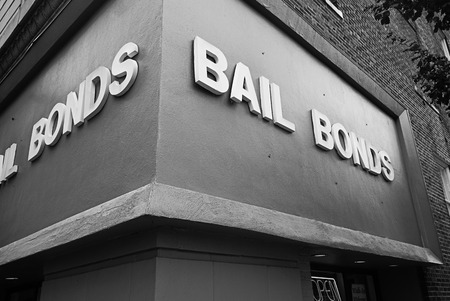 Bail Bond office building Archivio Fotografico