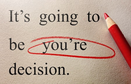 Red circle proof reading correction