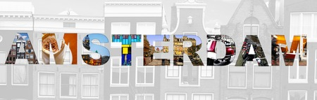 Msterdam collage de varias imágenes de toda la ciudad Foto de archivo - 50406948
