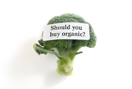 eating questions: Broccoli with Should You Buy Organic label