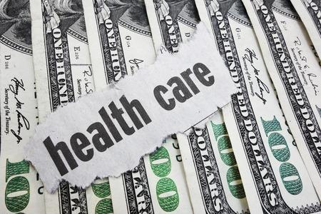 headline: Health Care newspaper headline on cash