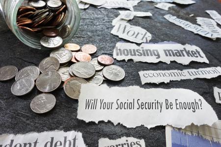 Soziale Sicherheit Frage mit wirtschaftlichen Schlagzeilen