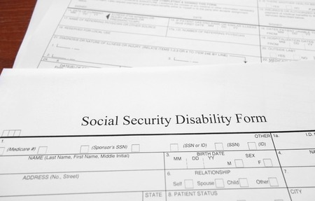 Social Security Disability Form Stock Photo Picture And Royalty