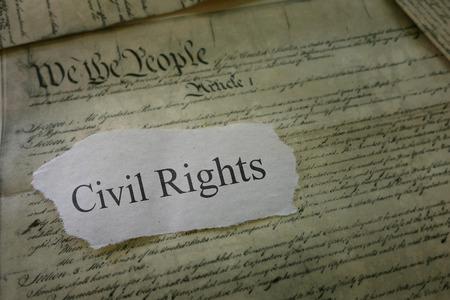 市民の権利米国憲法のコピーを新聞の見出し