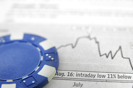 Blue chip and stock market graph Stock Photo