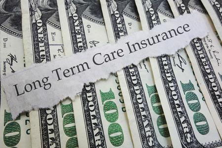 Long Term Care Insurance news headline, on money Stock fotó