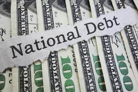 National Debt news headline on cash