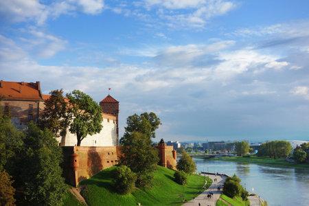 The Wawel Royal Castle and Vistula River in Krakow, Poland