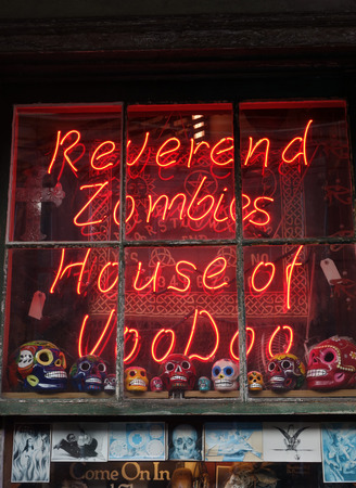NEW ORLEANS,LAUSA -03-19-2014: Reverend Zombies voodoo shop in the French Quarter of New Orleans, Louisiana Editorial