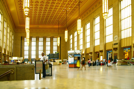 PHILADELPHIA,PAUSA -08-21-2009: 30TH Street Station, the main train station in Philadelphia