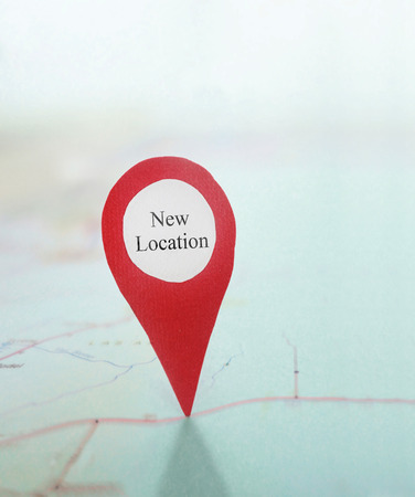 New Location locator on a map