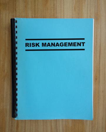 Risk Management binder on a table