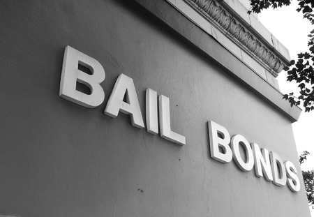 Bail Bonds sign on office building exterior