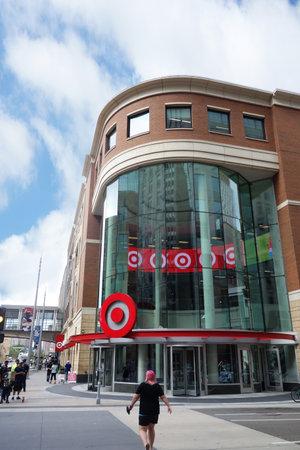 MINNEAPOLIS,MNUSA - 7-09-2018: A Target retail store entrance in downtown Minneapolis