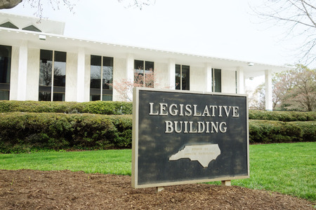 The legislative building in downtown Raleigh NC, home of the North Carolina state legislature Stock Photo